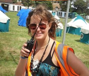 Festival walkie-talkie user