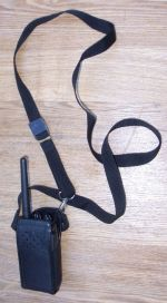 Walkie Talkie in Leather Case With Strap